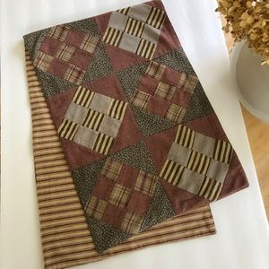 Vintage Country Primitive Patchwork Table Runner